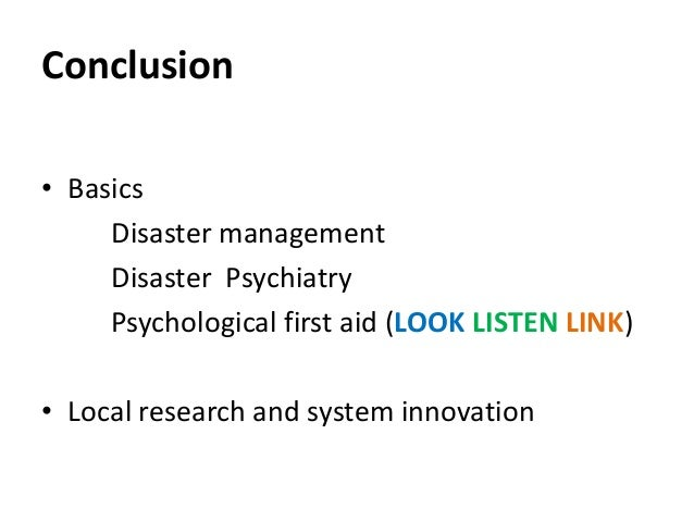 disaster mental health response handbook
