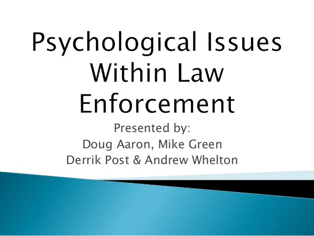 contemporary issue in law enforcement Attorney daigle acts in his capacity as a law enforcement consultant providing guidance and oversight to department command staff on operations, force response and risk management he has served as an expert witness in use of force cases and has reviewed use of force incidents around the us.