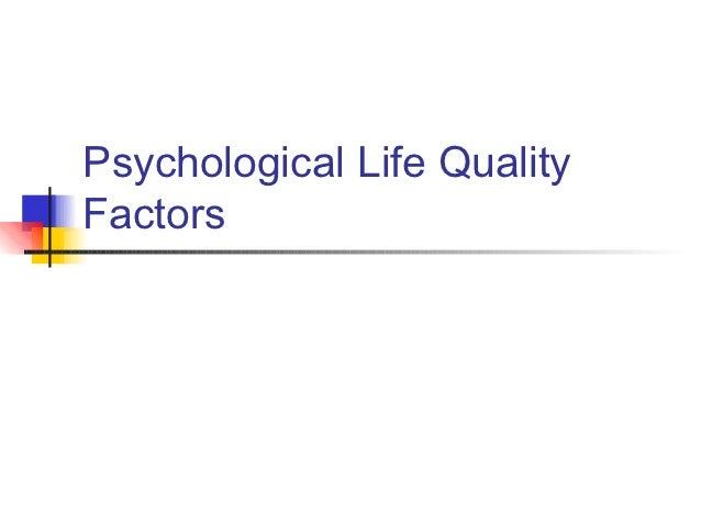 Psychological Life QualityFactors