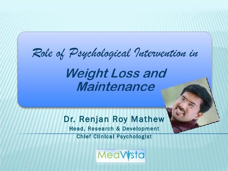 Dr. Renjan Roy Mathew Head, Research & Development Chief Clinical Psychologist