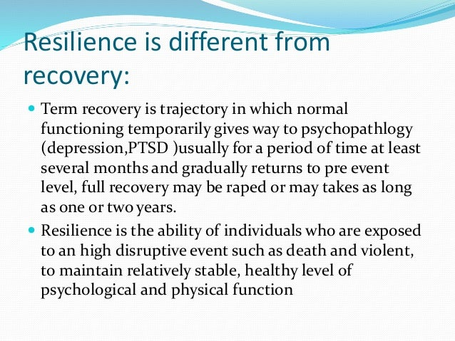 emotional resilience definition
