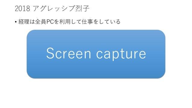 2018 アグレッシブ烈子 • 経理は全員PCを利用して仕事をしている Screen capture