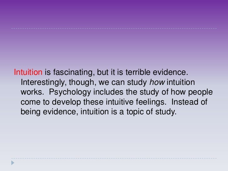 Explainer: what is intuition?