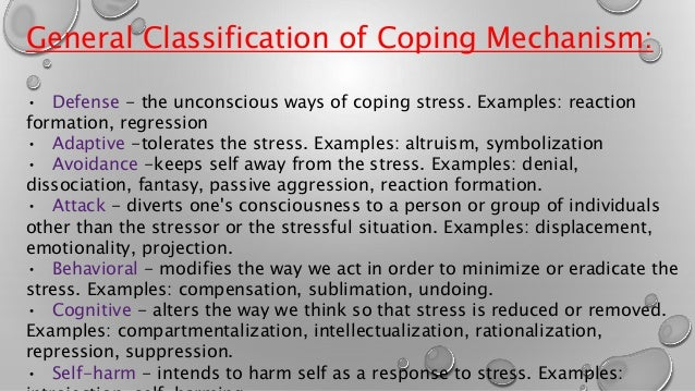 Psychological stress and coping mechanism