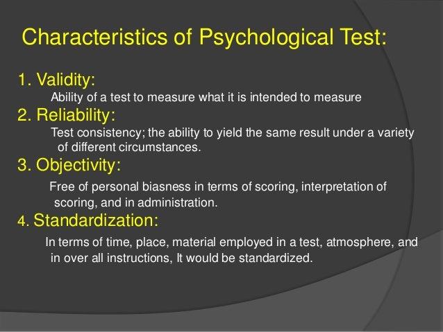 Psychological test