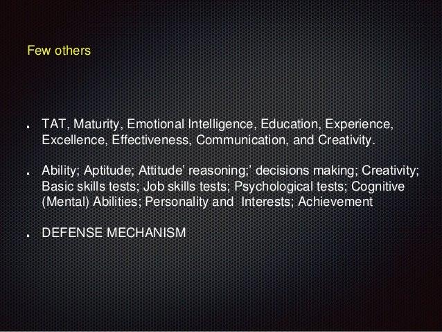 psychological maturity test