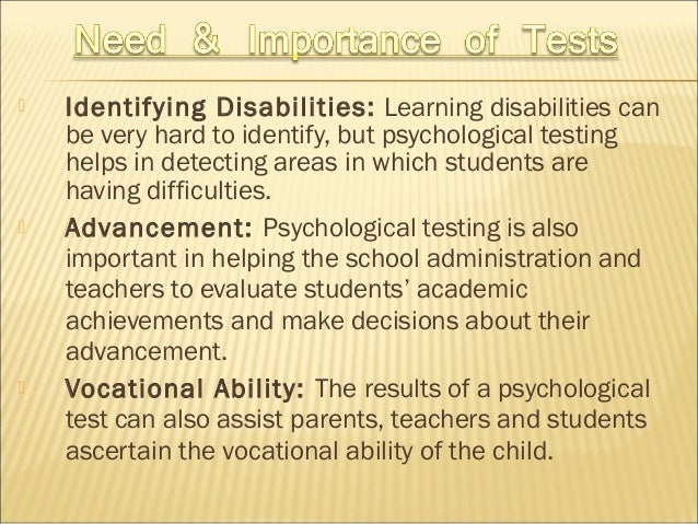 Psychological test meaning, concept, need & importance