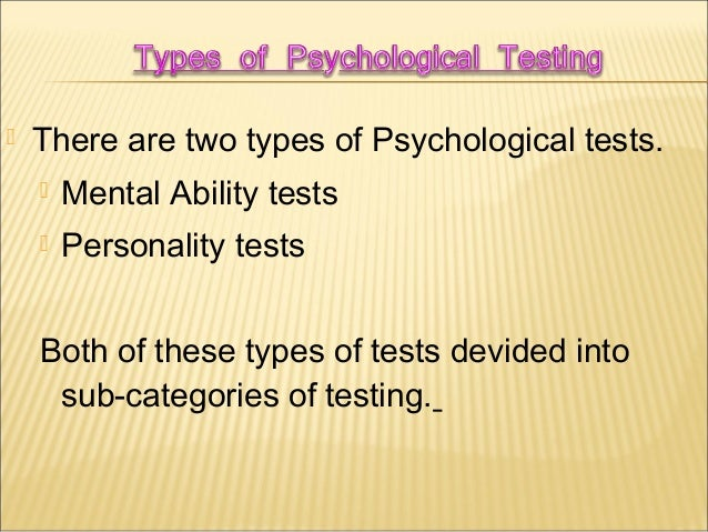 The effectivenes and relevance of intelligence tests