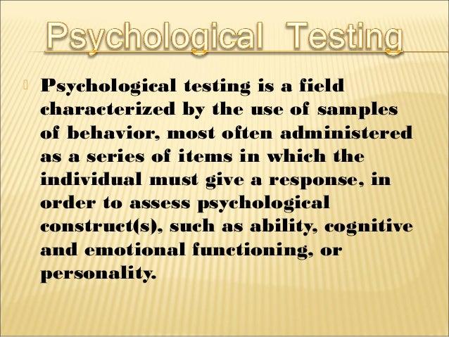 importance of psychological testing