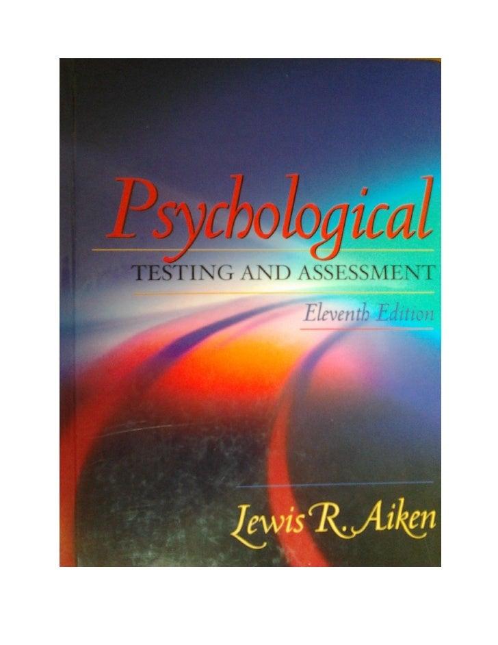 Psychological test i assessments. La llista dels tests, inventoris i escales
