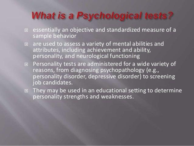 nature of psychological testing pdf