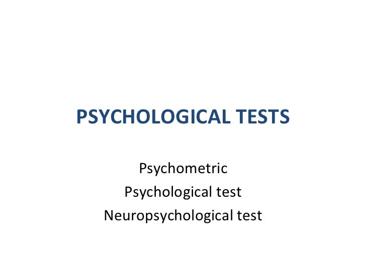 Psychology testing worksheet