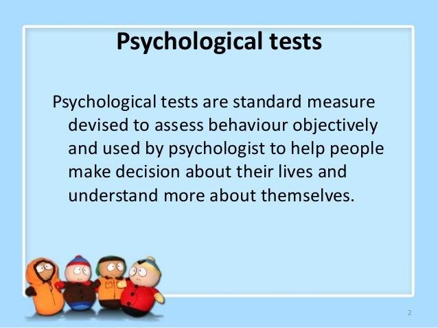 types of psychological tests ppt