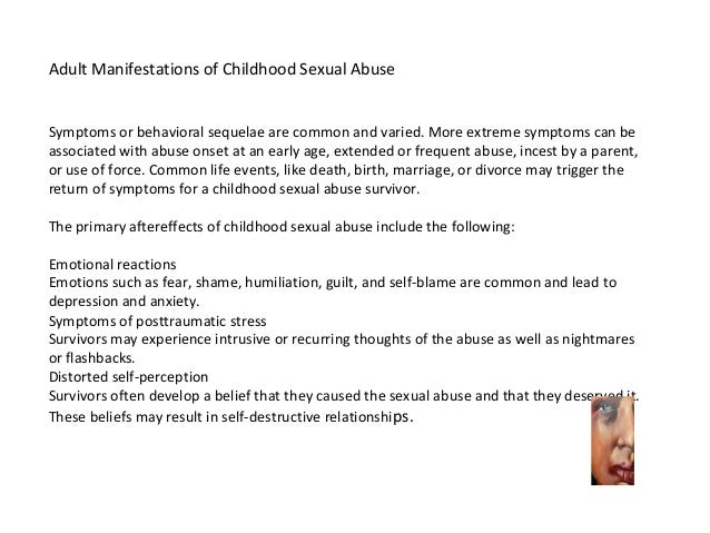 Sexual abuse effects on marriage