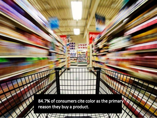 84.7% of consumers cite color as the primary reason they buy a product.
