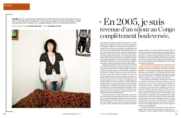 psychologies magazine mars 2011124 mars 2011 psychologies magazine 125 >>> Isabelle,47ans,mèrededeuxadolescents,avaitunbe...