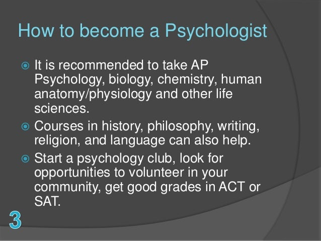 psychologist career, Human Body
