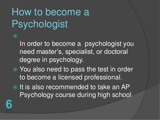 psychologist career, Human body