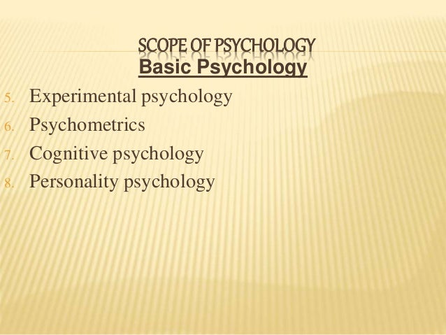 nature and scope of experimental psychology