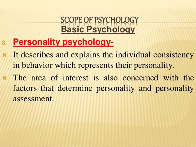 in psychology the term personality refers to