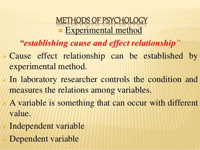 what does cause and effect mean in psychology