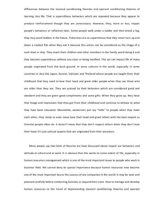 operant conditioning essay free