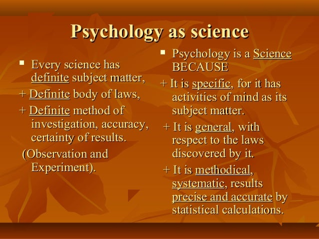 the subject matter of psychology