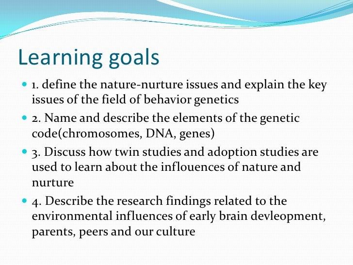 nature and nurture definition psychology