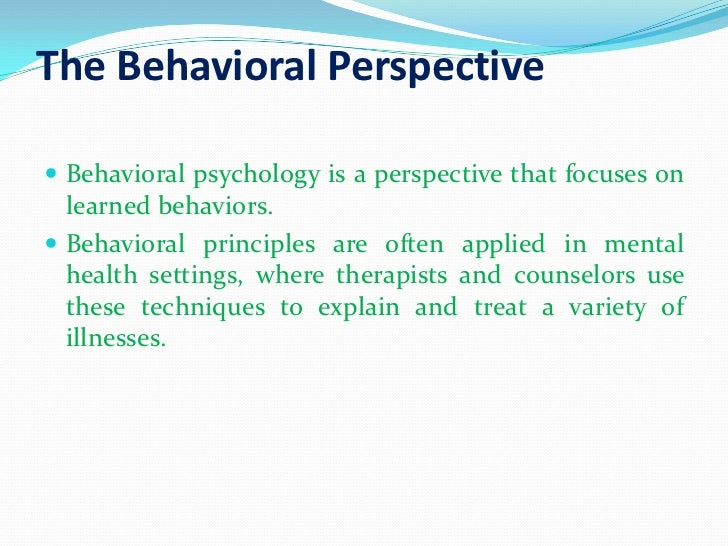 Behaviorism psychology essay