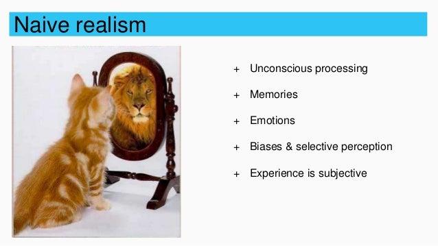 Philosophy of perception: naïve realism vs. Representationalism vs.