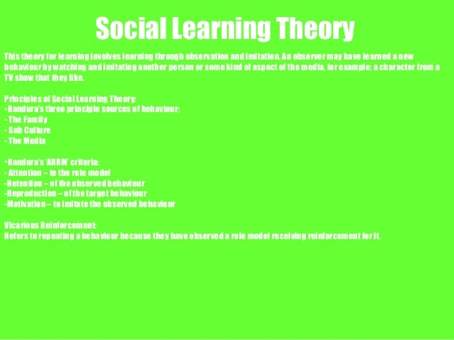 the social learning theory approach The majority of research done in the social learning theory involves laboratory experiments on children  learning approaches - social learning theory study notes.