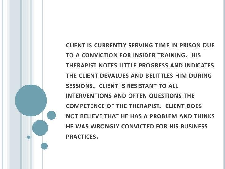 resistant client essay