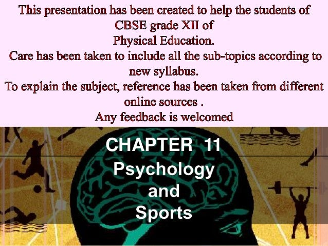 Psychology and sports