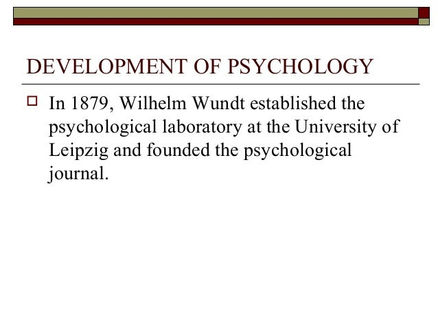 the development of the science of psychology during the 19th century Have occurred in the late 19th century, with wilhelm  way for this groundbreaking development  of psychological science and his 18th century conception.