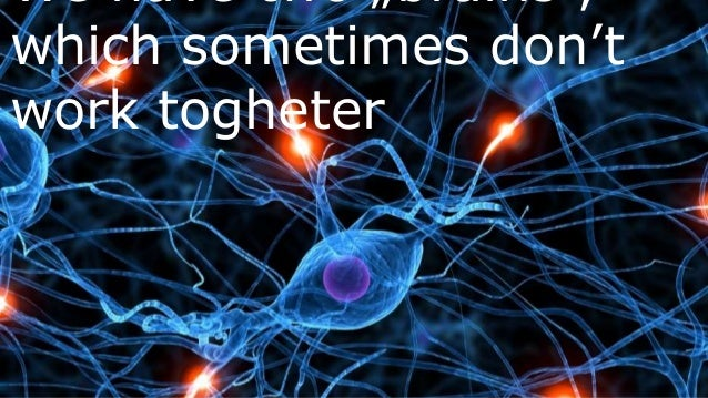 """We have two """"brains"""", which sometimes don't work togheter"""