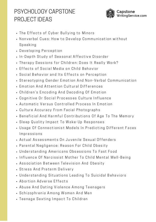 psychology capstone ideas