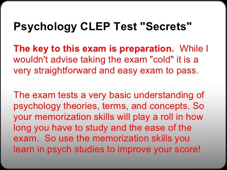 The 10 Things You Need to Know to Pass a CLEP Exam [Report ...