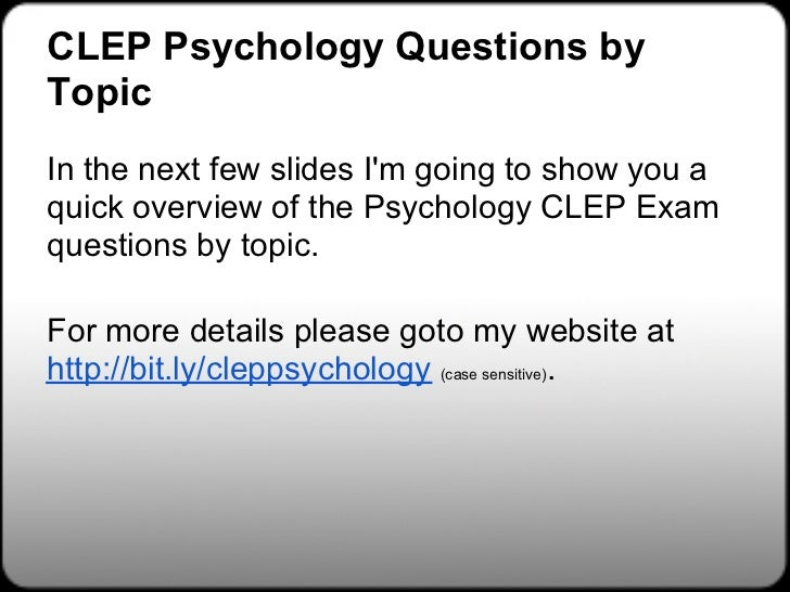 Chemistry CLEP Free Study Guide! - Free-Clep-Prep.com