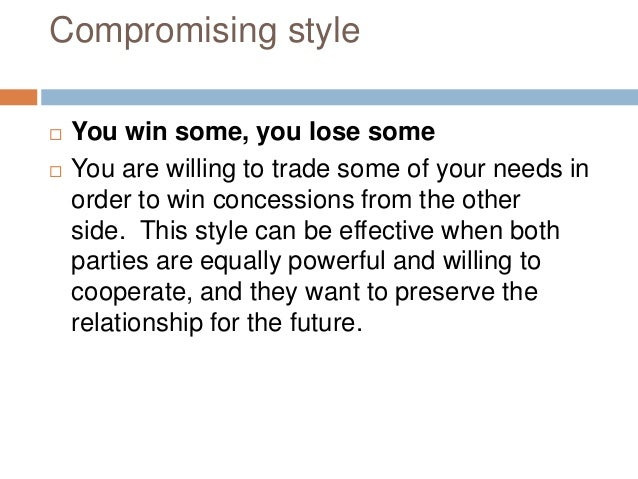 Accommodating style definition english