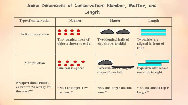 conservation tasks Start studying human growth and development chapter 6  indicate as an important factor in a child's performance on conservation tasks  the range of tasks.