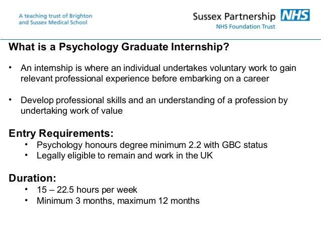 Psychology Graduate Internships Slide 2