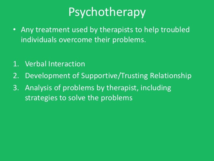 Psychology notes ch  17 - therapy - short