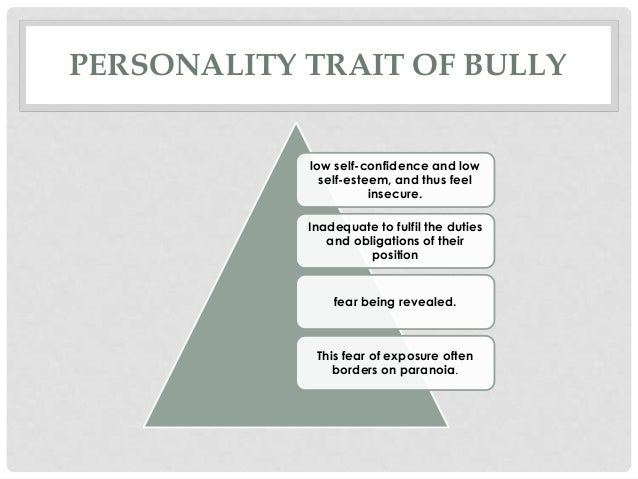 bully personality traits