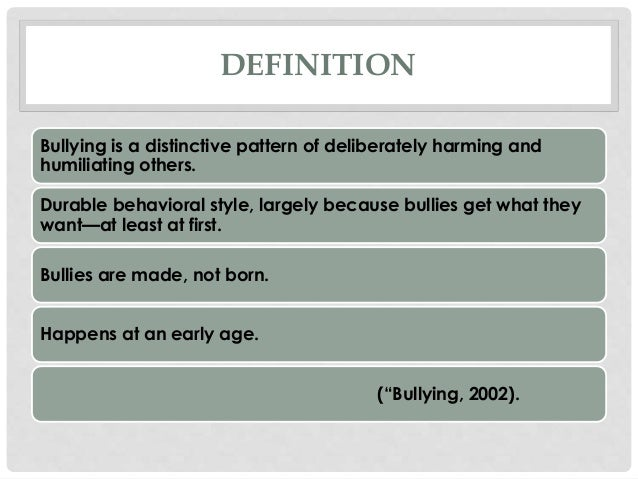 psychodynamic theory and bullying Students, demonstrating that female students were predominantly aggressive in a different manner than their male counterparts psychoanalytic theories of attachment and aggression guide this research as a theoretical framework for interpreting social aggression as a form of bullying among adolescent female students.