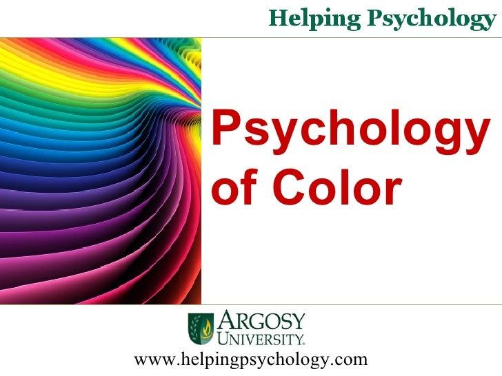 Psychology of Color  www.helpingpsychology.com