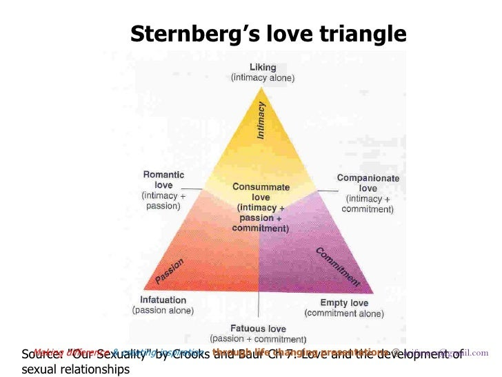 Personal experiences in lifetime triangles of love and relationships