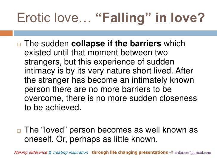 Falling Difference In Between Love And Love