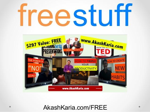 freestuff AkashKaria.com/FREE