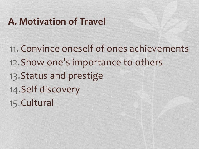Travel motivation and tourist typologies essay