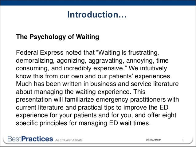 Psychology of waiting